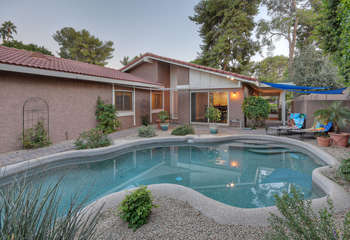 Pool can be heated for additional fee and provides refreshing dips year round