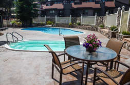 Common area seasonal pool and year round hot tubs