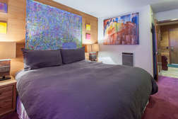 Master bedroom #1- on lower level with flat screen tv