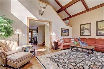 Living Room has Elegant Furnishings