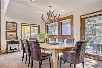 Stylish Dining Area Seats Eight
