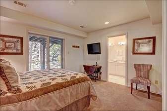 Second Bedroom has a Queen Bed and En Suite Bathroom