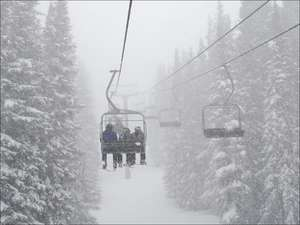 Snowy Ski Lifts
