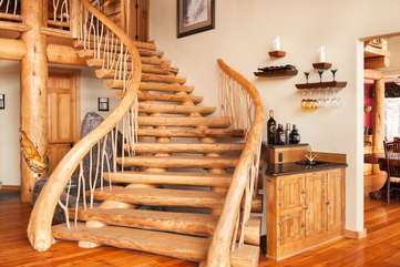 Staircase to second floor -Star View Lodge
