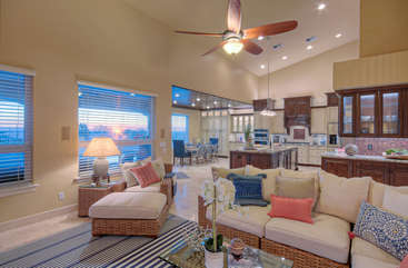 Open floorplan and stylish decor create living spaces that are overflowing with ambiance