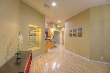 Open floor plan is both spacious and sleek