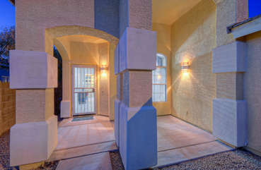 Welcoming private entrance to remarkable get-away home in well maintained neighborhood