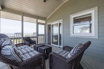Relax on the screened in porch!