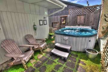 Hot tub privacy, and ocean views.