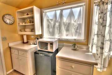Kitchenette in upstairs suite.