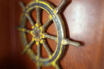 The Captain's wheel.
