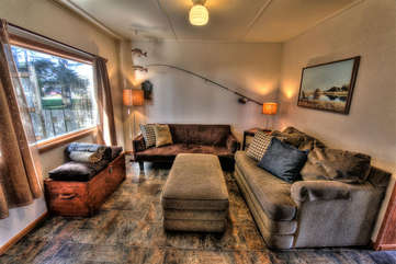 Sunlight, comfortable furnishings and style in the Fisherman's Cove.