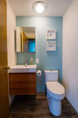 Remodeled main level bathroom.