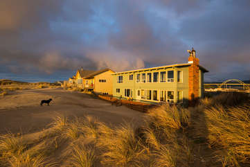 House sits on Alsea Spit with miles of soft sandy beach.