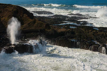 Thor's Well, south of Yachats. Only a 20 minute drive.