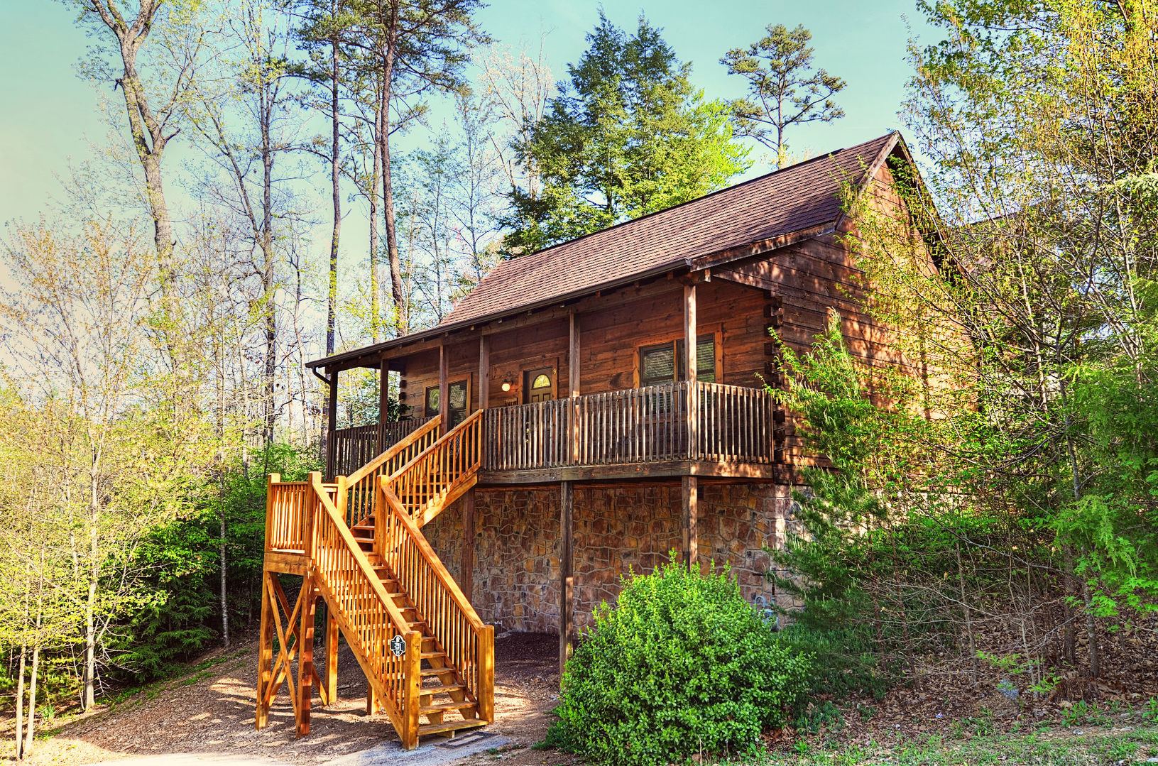 Pigeon forge cabins tree tops 1 bedroom for Pigeon forge cabins with fishing