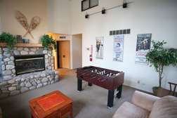 Central game room in complex: Foosball table and other games