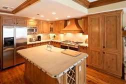 Kitchen opens to dining area and living room, for great entertainment space