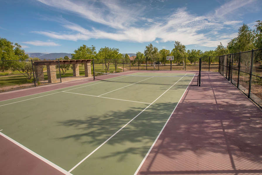 Basketball or tennis is available!