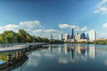 Ladybird lake boardwalk trail is just a 10 minute WALK away. It's part of a stunning 10 mile hike & bike loop. You can also easily bike to Zilker park (home of ACL festival) this way.
