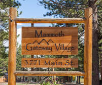 Mammoth Gateway Village Complex Sign