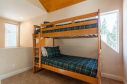 Open loft with one set of bunk beds (Twin beds) and flat screen TV