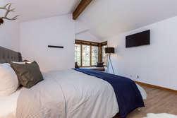 Third Bedroom- Master Bedroom Upstairs- King Bed, Flat Screen TV and En-suite full bathroom