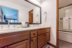 Third Bathroom- En-suite master bathroom- tub and shower