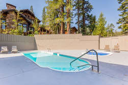 View Of pool and Hot Tub