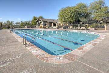 Las Sendas neighborhood has a hot tub and two community pools; one is heated for year round refreshing dips.