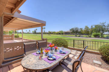 Lovely 2 BR, 2 bath home with view of Painted Mountain Golf Course provides perfect retreat for golf loving guests!