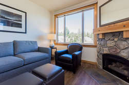 Living Room, Queen Sleeper Sofa, Gas Fireplace, Flat Screen TV and Blue-ray Player