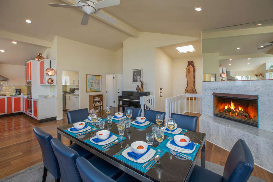 Kitchen opens up to the Dining Room