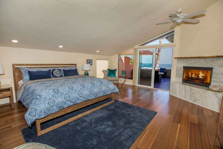 Master Bedroom also has a fireplace and patio