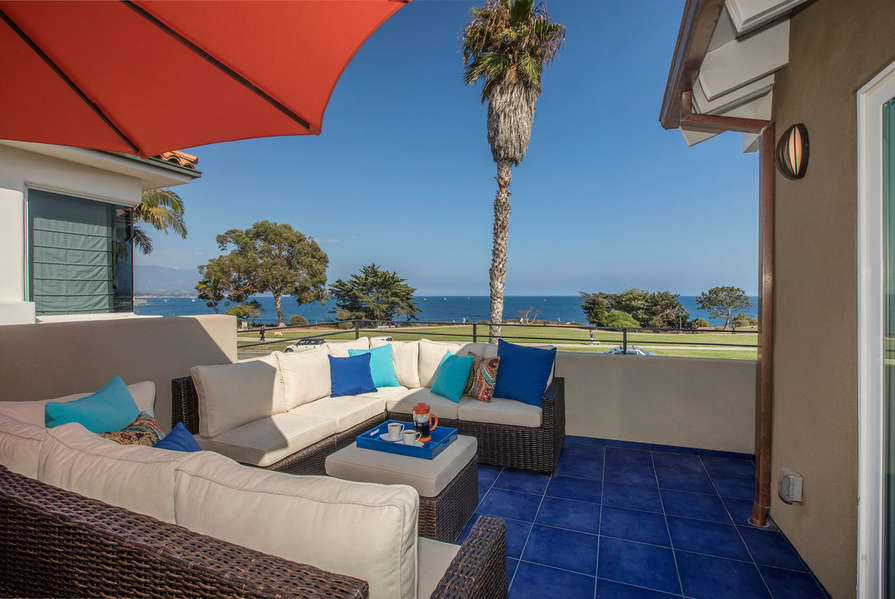 The patio off of the Master Bedroom is the perfect spot to take in the gorgeous ocean views