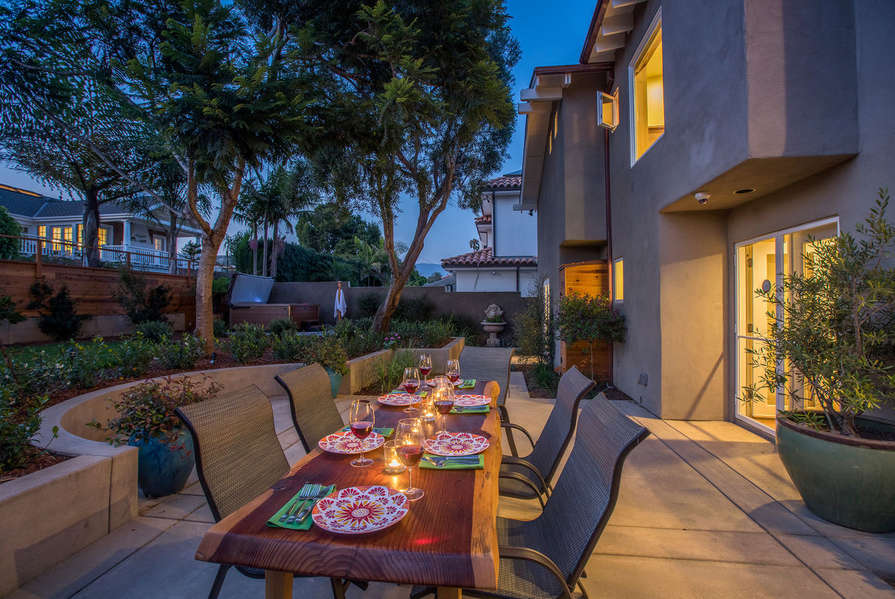 End your day with a perfect dinner outside during sunset
