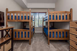 Downstairs Bedroom #2- Two Sets of Bunk Beds (Twin over Twin - 4 town beds total)- Flat Screen TV