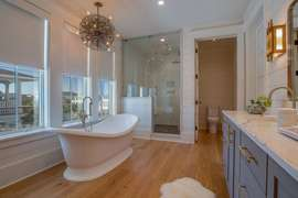 Second master bathroom with soaking tub and stand up shower