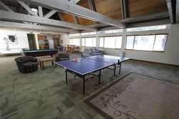 Communal Rec. Room furnished with Pool table, Ping pong table and air hockey table.