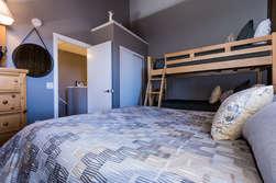 Bedroom #2/Loft- Queen Bed and Bunk Bed-(Twin over Twin)