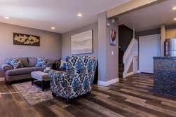 Living Room-Gas Fireplace-Queen Sleeper Sofa- Flat Screen TV + Smart Blue Ray Player