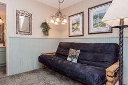 Futon couch sleeper downstairs in sleeping nook