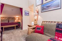 Futon couch sleeper in loft
