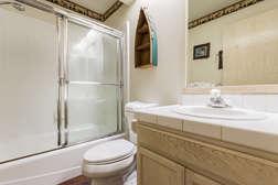 Shared second bathroom