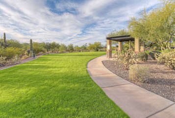 Neighborhood is quiet, secure and well maintained with sidewalks and trails to connect you to community amenities