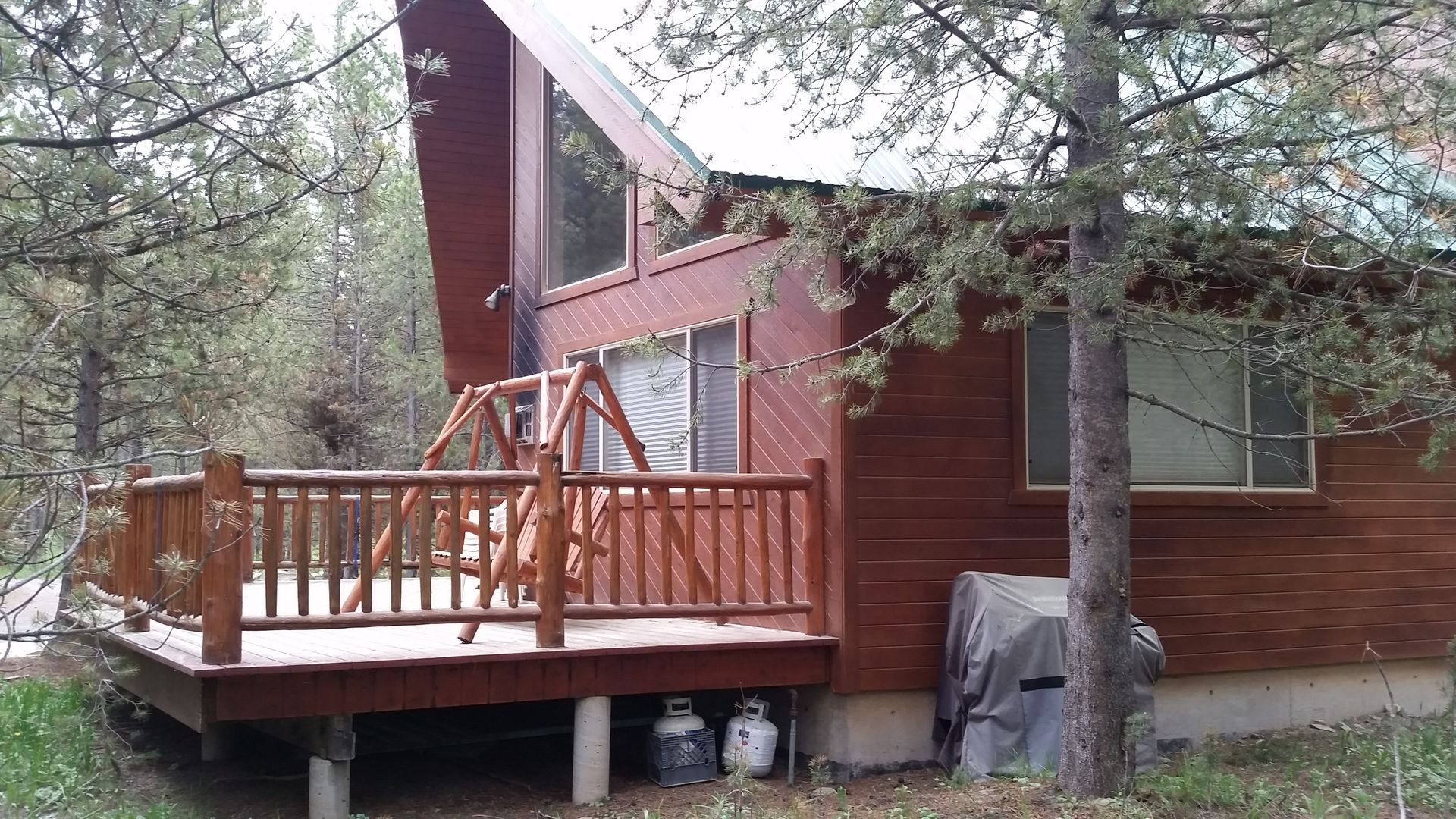 beautiful rentals a up early r in comments to idaho island cabin woke park cabins sunrise earthporn