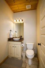 Main level half bathroom