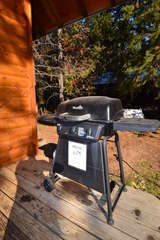 Grill on front porch
