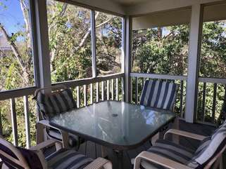 Enjoy your morning coffee or a cool drink on the porch.