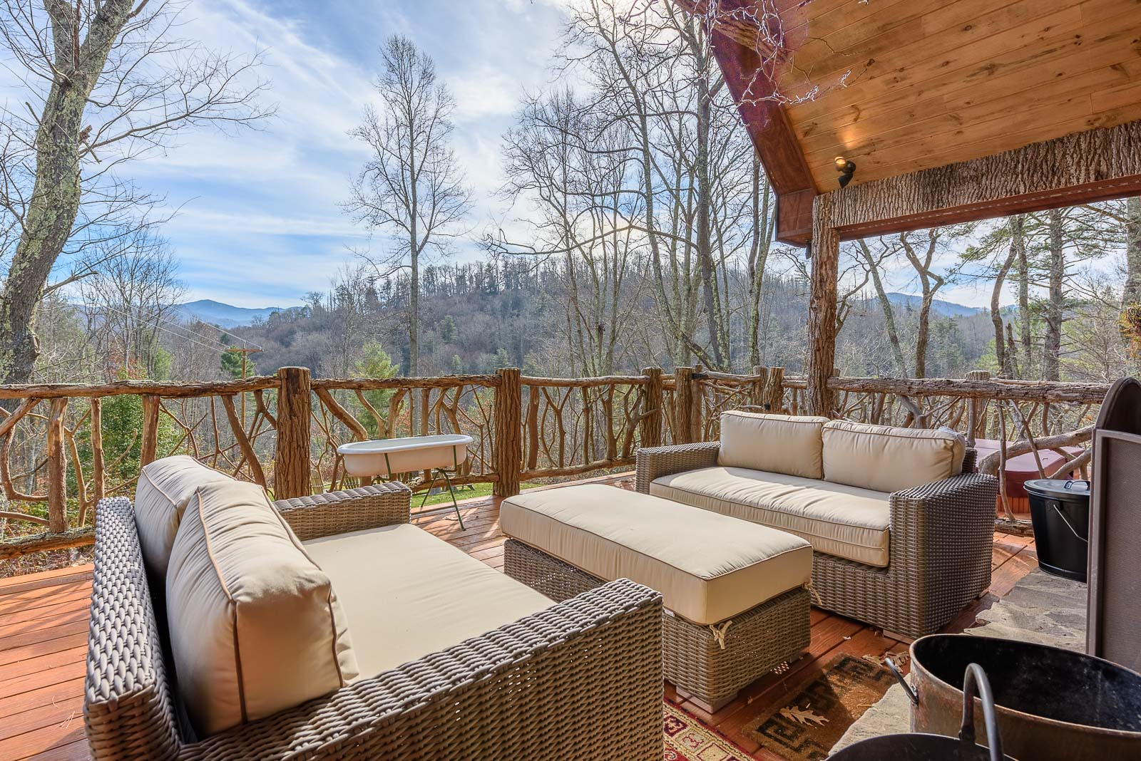 the include nc mountain firepit new info rentals in wooded top lodging grandfather seclusion upscale river condos more high and chalets cabins sleeping settings trout frontage vistas stream country over or cabin